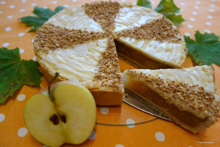 Gedeckter Apfelkuchen