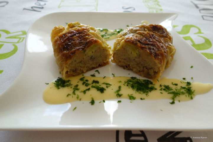 Wirsingrouladen mit Kartoffel-Maronen-Füllung