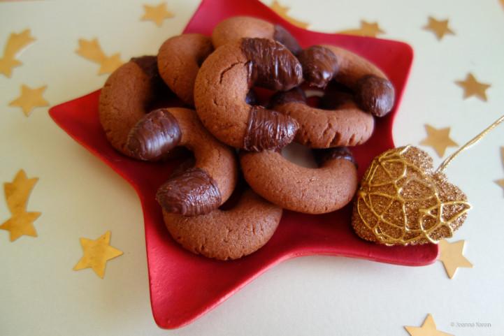 Nougat-Schokoladen-Kipferl