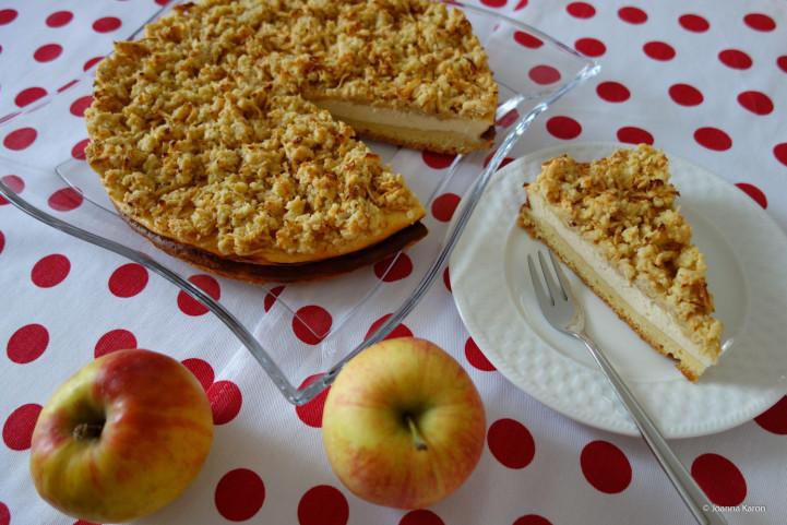 Käsekuchen mit Apfelstreuseln