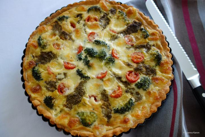 Lachs-Brokkoli-Tarte