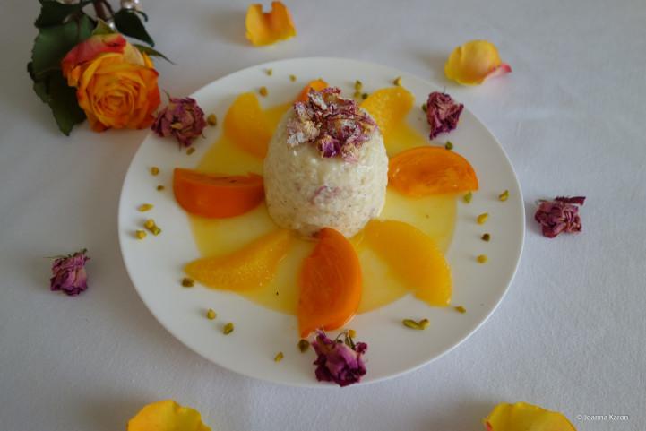 Persischer Rosenmilchreis