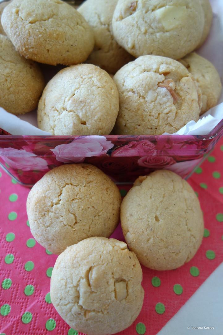 Macadamia -Cookies weisse Schokolade