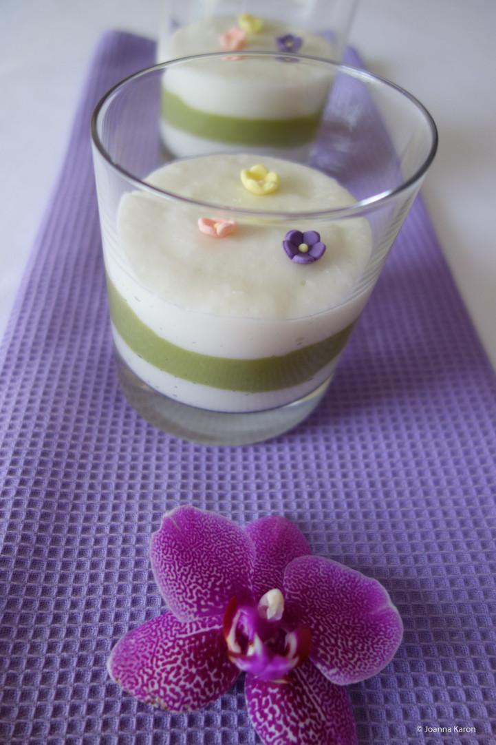 Matcha-Kokos-Pudding