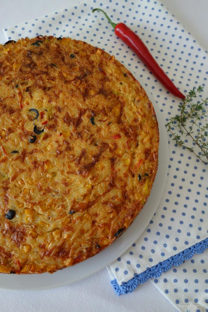 Spanischer-pikanter-Reiskuchen