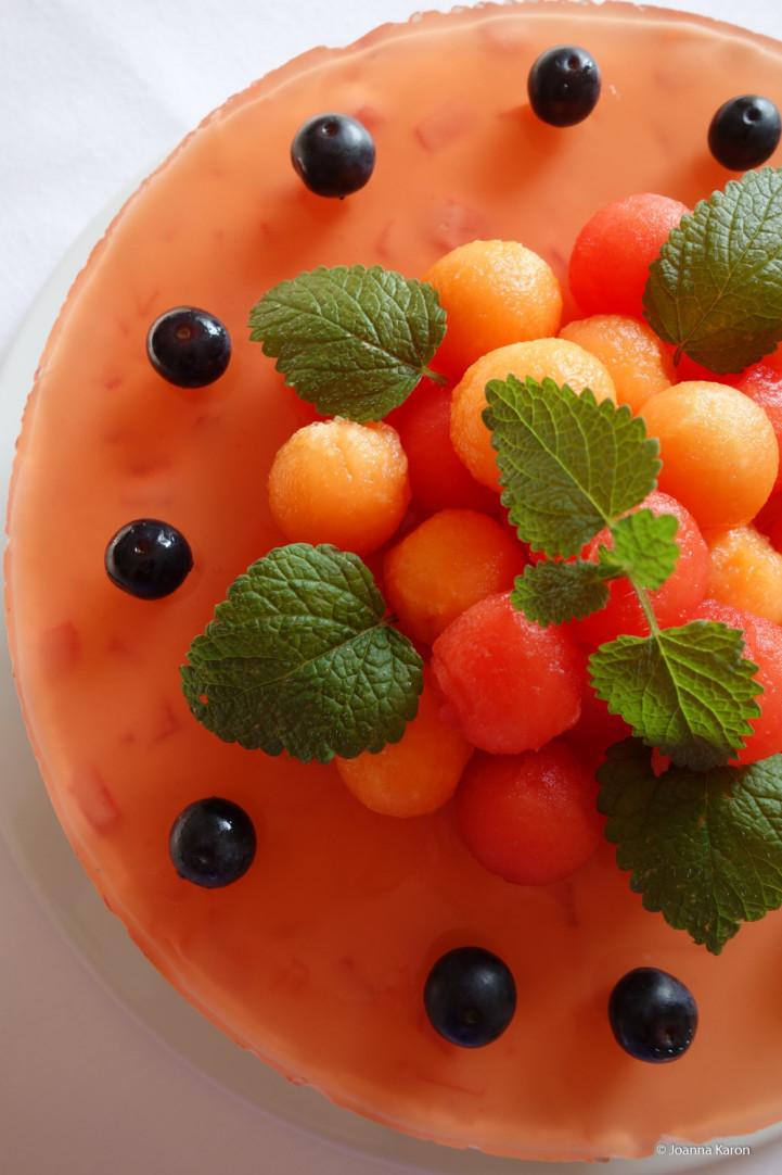 Melonen-Joghurt-Torte
