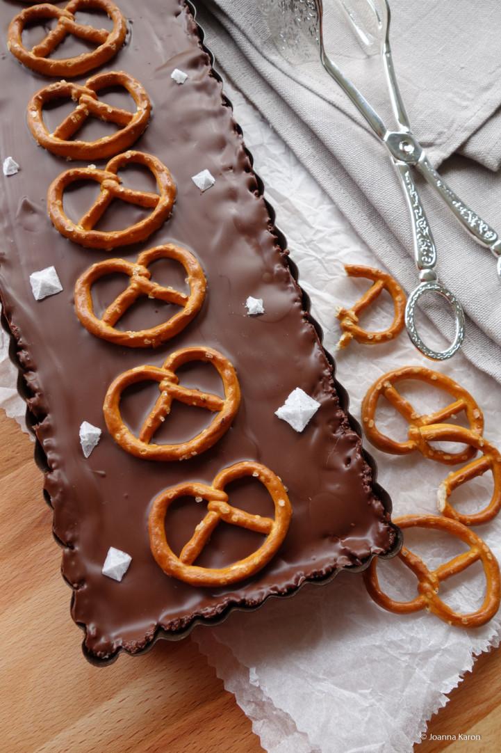 Brezel-Schokoladen-Tarte
