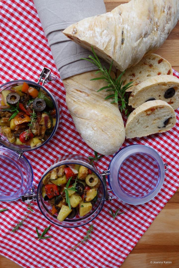 Mediterraner Kartoffelsalat - Mediterranes Baguette