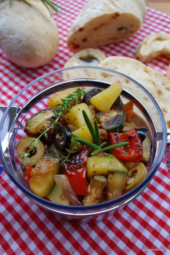 Mediterraner Kartoffelsala