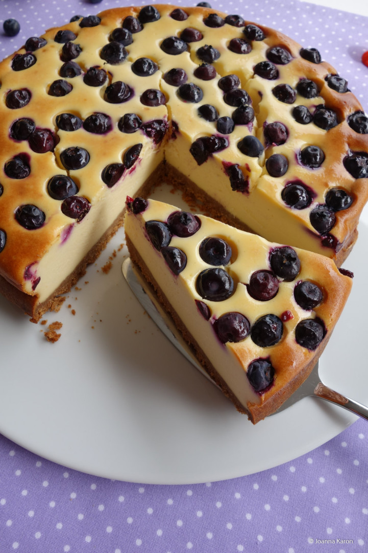 Amerikanischer Blueberry Cheesecake