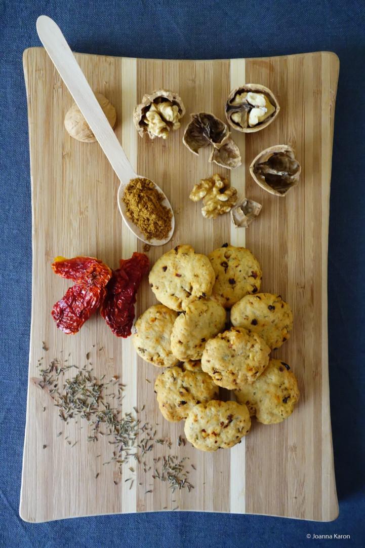 Würzige Cookies mit Ras el Hanout und Scharfe Oliven-Cantucci