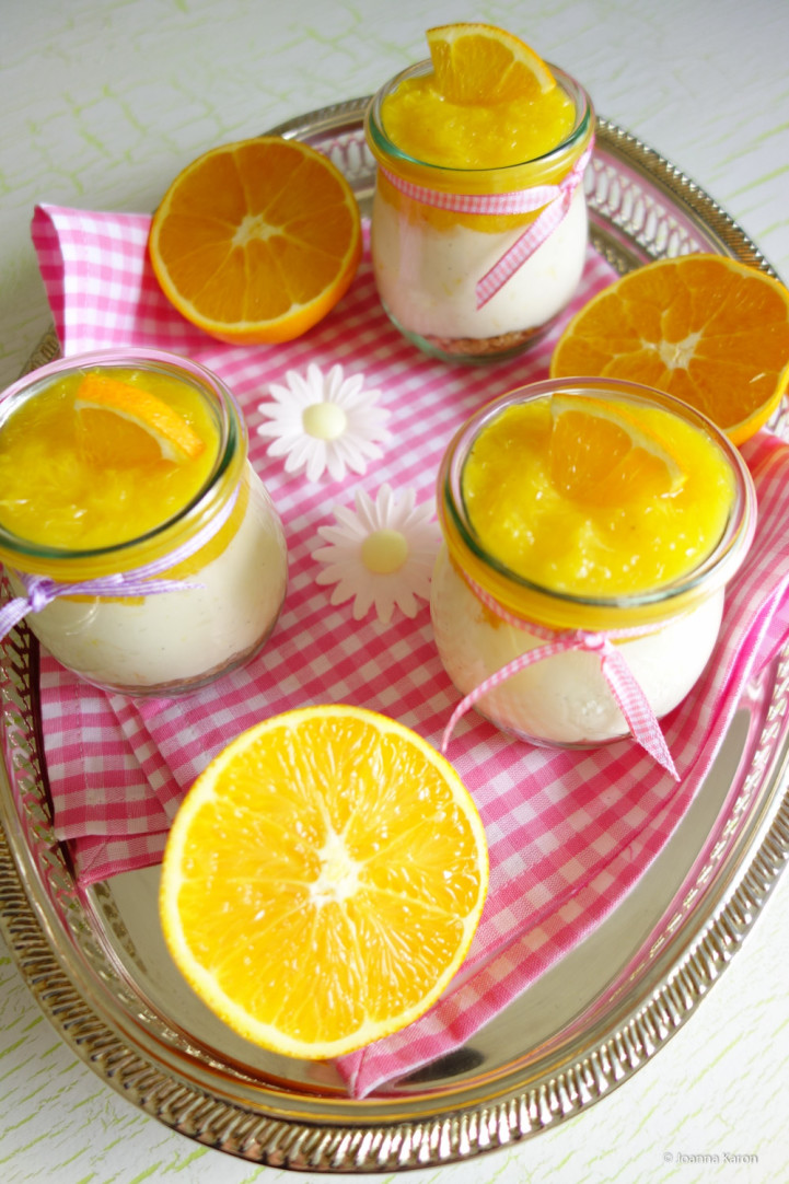 Orangen-Cheesecake im Glas