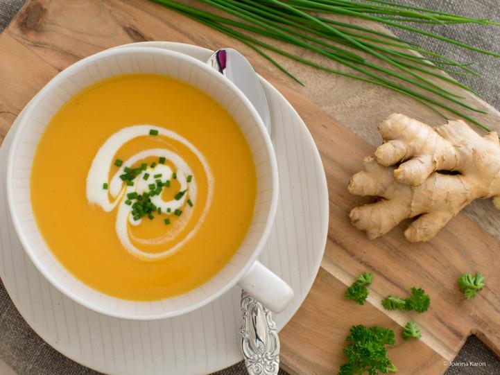 Asiatische Karottensuppe
