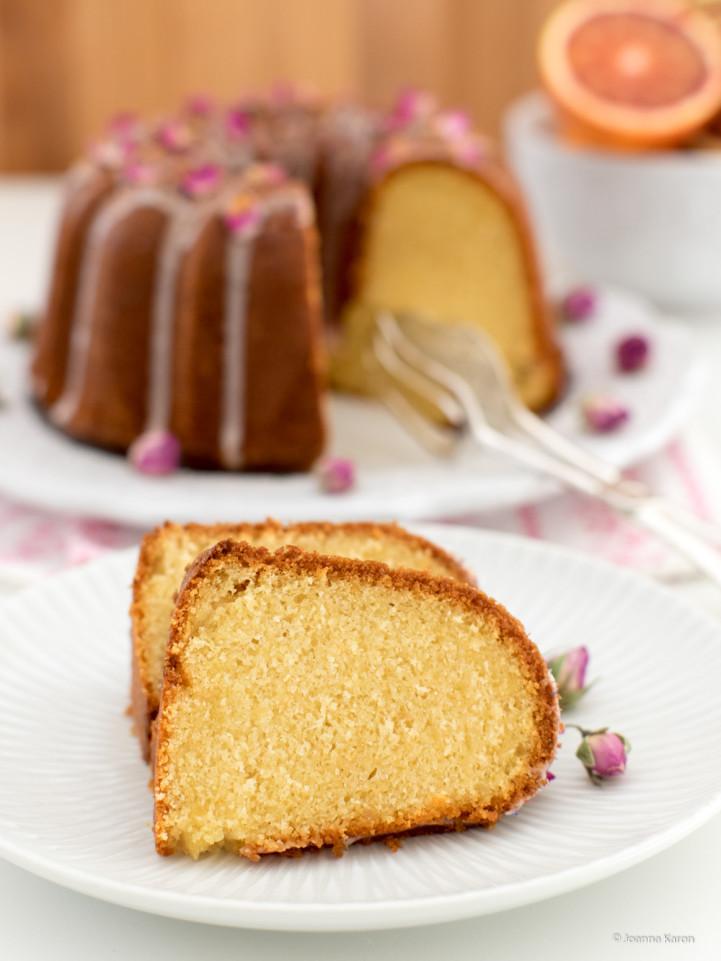 Blutorangen-Grieß-Kuchen
