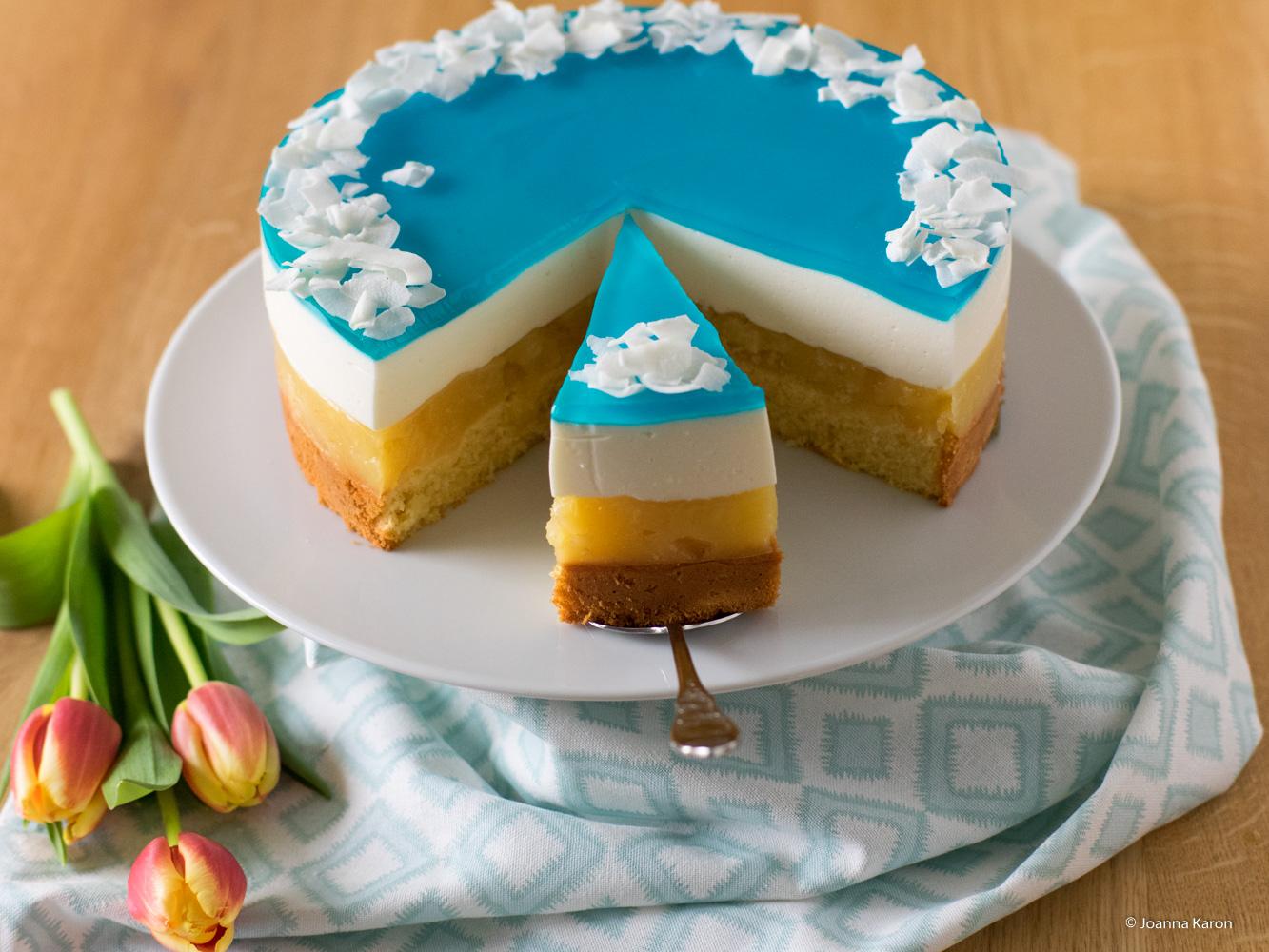 Blue Hawaii Torte Oder Auch Swimmingpool Torte Die