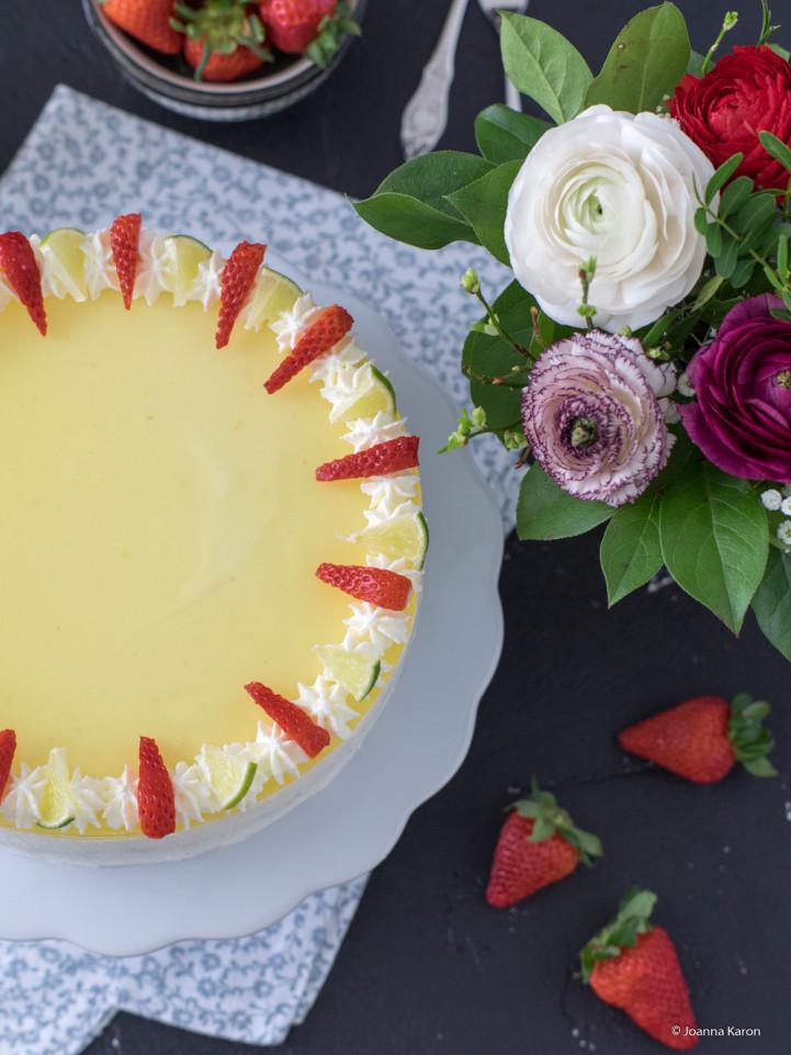 Erdbeer-Limetten-Torte
