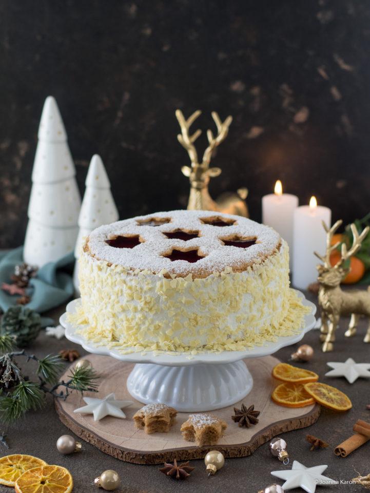 Spekulatius-Mandarinen-Torte mit Gelee-Sternen von die Küchenzuckerschnecke