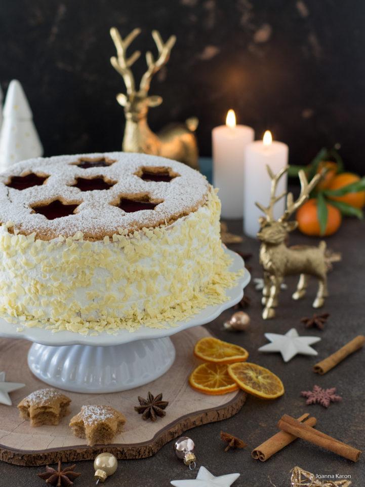 Spekulatuis Mandarinen Torte Mit Gelee Sternen Die