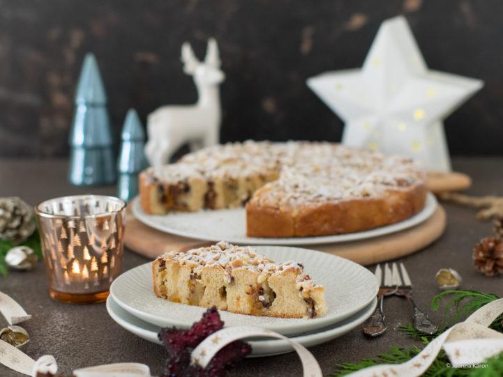 Himmlischer Stollen-Hefeschnecken-Kuchen von Die Küchenzuckerschnecke | SCCC 2020: Türchen Nr. 1 | Gewinnspiel